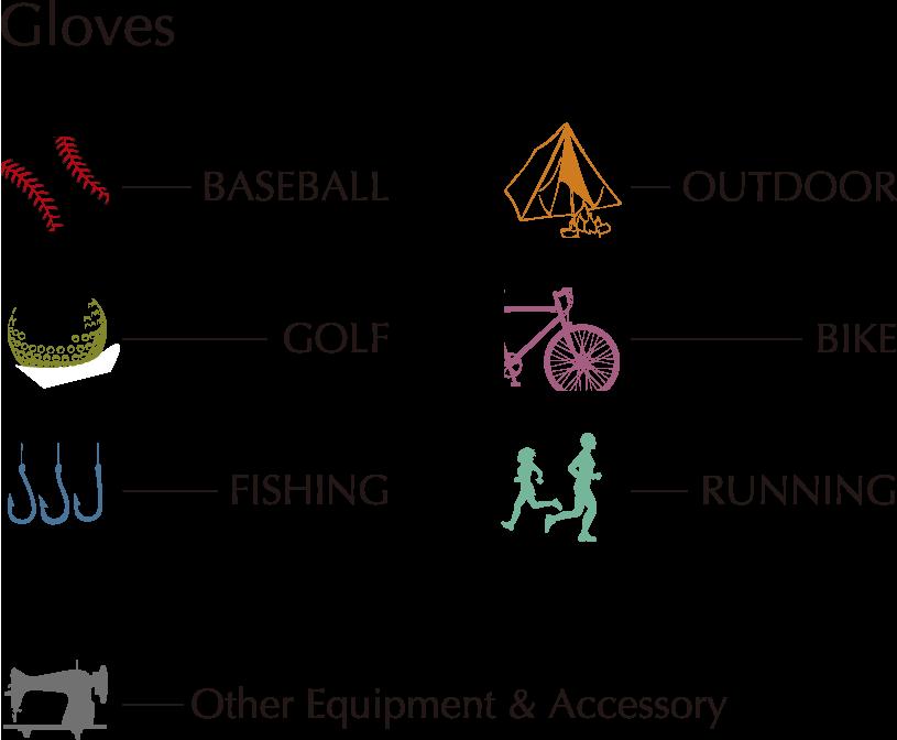 手袋や製品開発のカテゴリー一覧画像